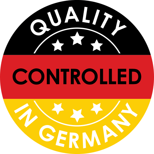 Siegel Quality controlled in Germany